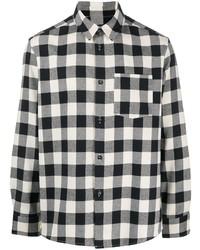 Camisa de manga larga de cuadro vichy en blanco y negro de A.P.C.
