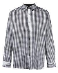 Camisa de manga larga de cuadro vichy en blanco y negro de Ader Error