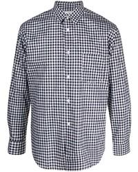 Camisa de manga larga de cuadro vichy en blanco y negro de Comme Des Garcons SHIRT
