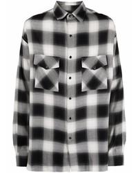 Camisa de manga larga de cuadro vichy en blanco y negro de IRO