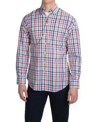 Camisa de manga larga de cuadro vichy en multicolor
