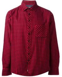 Camisa de manga larga de cuadro vichy en rojo y negro de Rag and Bone