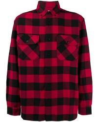Camisa de manga larga de cuadro vichy en rojo y negro de Woolrich
