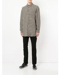 Camisa de manga larga de cuadro vichy marrón de Undercover