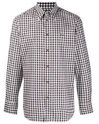Camisa de manga larga de cuadro vichy marrón de Vivienne Westwood