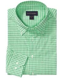Camisa de manga larga de cuadro vichy verde