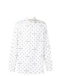 Camisa de manga larga de estrellas blanca de Gucci