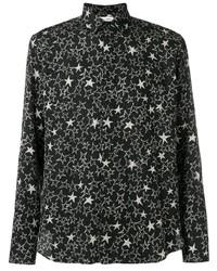 Camisa de manga larga de estrellas en negro y blanco