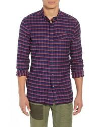 Camisa de manga larga de franela a cuadros en multicolor