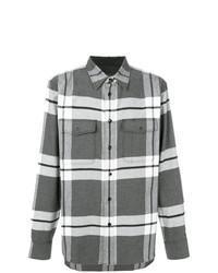 Camisa de manga larga de franela a cuadros gris de rag & bone