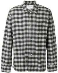 Camisa de manga larga de franela de cuadro vichy gris de Our Legacy