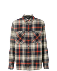 Camisa de manga larga de franela de tartán en multicolor de rag & bone