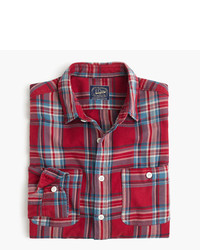 Camisa de manga larga de franela de tartán