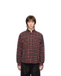 Camisa de manga larga de franela de tartán roja de Rassvet