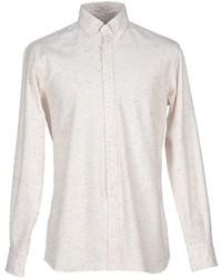 Camisa de manga larga de franela en beige