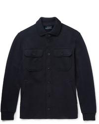 Camisa de manga larga de lana azul marino de Polo Ralph Lauren