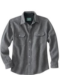 Camisa de manga larga de lana gris