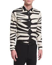 Camisa de manga larga de leopardo en beige