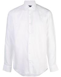 Camisa de manga larga de lino blanca de Frescobol Carioca