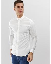 Camisa de manga larga de lino blanca de Jack & Jones