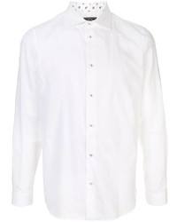 Camisa de manga larga de lino blanca de Loveless