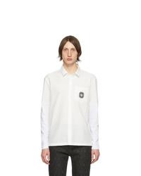 Camisa de manga larga de lino en blanco y negro de Neil Barrett