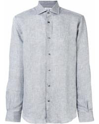 Camisa de manga larga de lino gris de Boglioli