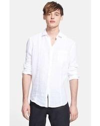Camisa de manga larga de lino