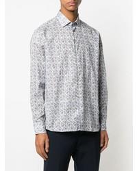 Camisa de manga larga de paisley blanca de Etro