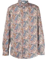 Camisa de manga larga de paisley en multicolor de Massimo Alba