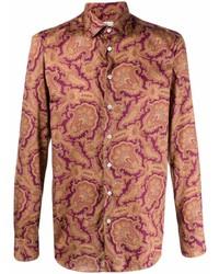 Camisa de manga larga de paisley morado de Etro