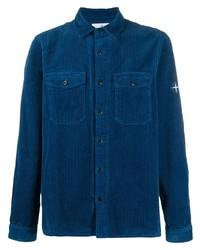 Camisa de manga larga de pana azul marino de Stone Island