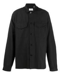 Camisa de manga larga de pana negra de Oliver Spencer