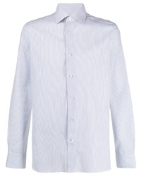 Camisa de manga larga de rayas verticales blanca de Ermenegildo Zegna