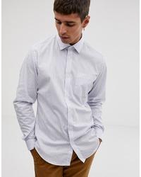Camisa de manga larga de rayas verticales blanca de Esprit