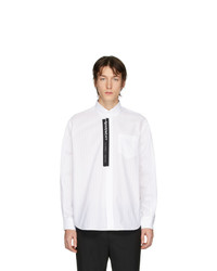 Camisa de manga larga de rayas verticales blanca de Givenchy