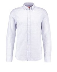 Camisa de Manga Larga de Rayas Verticales Blanca de Hugo Boss