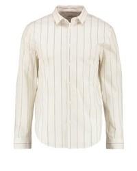 Camisa de Manga Larga de Rayas Verticales Blanca de KIOMI