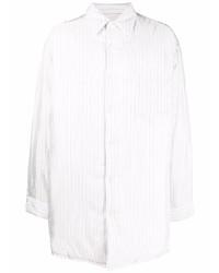 Camisa de manga larga de rayas verticales blanca de Maison Margiela