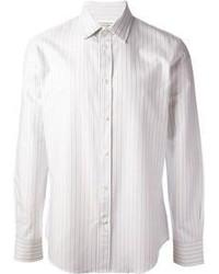 Camisa de manga larga de rayas verticales blanca de Maison Martin Margiela
