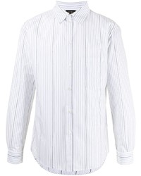 Camisa de manga larga de rayas verticales blanca de N°21