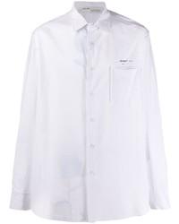 Camisa de manga larga de rayas verticales blanca de Off-White