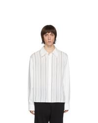 Camisa de manga larga de rayas verticales blanca de Our Legacy