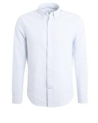 Camisa de Manga Larga de Rayas Verticales Blanca de Pier One