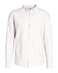 Camisa de Manga Larga de Rayas Verticales Blanca de River Island