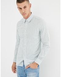 Camisa de manga larga de rayas verticales blanca de United Colors of Benetton