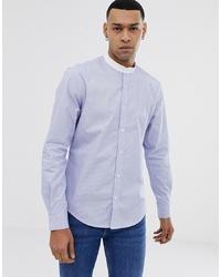 Camisa de manga larga de rayas verticales celeste de Esprit