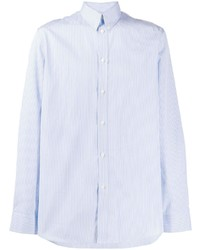 Camisa de manga larga de rayas verticales celeste de Givenchy