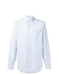 ... Camisa de manga larga de rayas verticales celeste de Polo Ralph Lauren f2d9da74b85