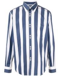 Camisa de manga larga de rayas verticales en blanco y azul de Cobra S.C.